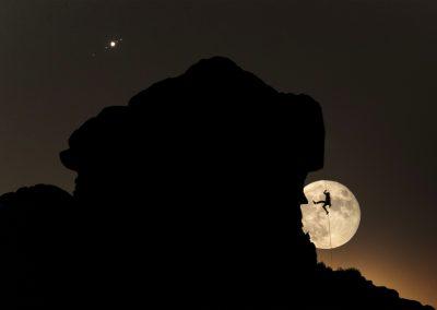 Lunas (La Luna y lunas de jupiter) de Daniel Sanz Zamora